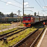 На железнодорожной платформе