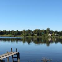 река Волхов, вид на пос. Речников