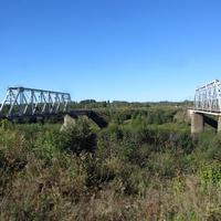 ж/д мост через реку Сясь вблизи Колчаново