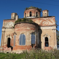 Руины храмового комплекса Тихвинской иконы и Рождества Христова в Колчаново