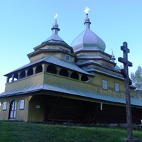 Церква Успіння Пресвятої Богородиці (1858 р.) в Тухольці.  (Пам'ятка архітектури національного значення).