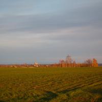 Вид на с. Сукромны. Октябрь 2011 г.