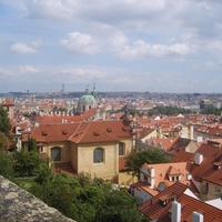 Вид с холма на старую часть города