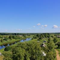 Река Мста с колокольни.
