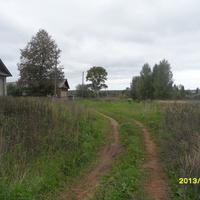 въезд на хутор со стороны парка