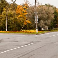 Перекресток Волхонского и Кузьминского шоссе