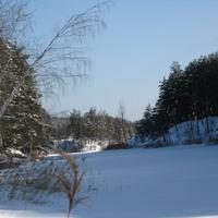"""озеро """"Солёное"""" зимой"""