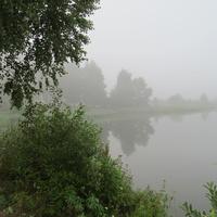 Утро.На берегу водохранилища Шустики.