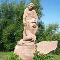 Памятник спаленому селу та загиблим жителям Словечного. 1983 р.