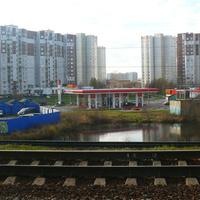 Вид на 14 й микрорайон с железной дороги
