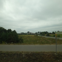 Вид на деревню. Справа - начальная школа