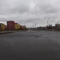 Перекрёсток улиц Стародеревенской и Ситцевой.