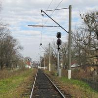 Входной светофор Н, станция Моршин