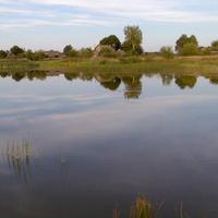 Озеро в деревне