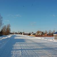 В посёлке зимой