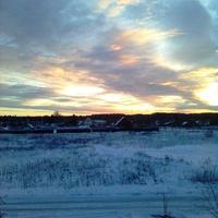 Зимний закат в Подоистрове