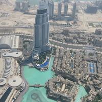Дубай со смотровой площадки небоскреба Burj Khalifa