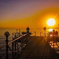 Красное море, восход, пирс...