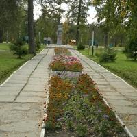 Цветник в парке