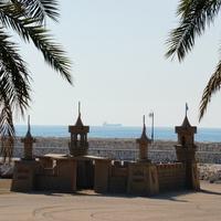 Песочный замок на Baby Beach отеля Rixos Sungate