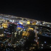 Вечерний полет над Лас-Вегасом