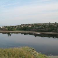 Вид на село Горноводяное со стороны ерика Байрачный. 2010 г