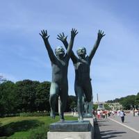 Парк скульптур Вигеланда в районе Фрогнер.