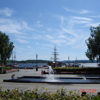 Осло, вид перед Ратушей