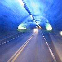 Лаердал, туннель внутри