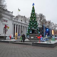Новогодняя елка на Думской площади в Одессе