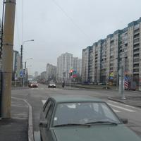 Перекрёсток на проспекте Авиоконструкторов.