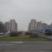 Проспект Королёва.Вид в сторону нового микрорайона.