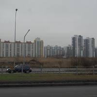 Вид на микрорайон по улице Парашютной.
