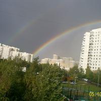 Двойная радуга над Тропарево.