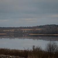 Первый лёд на озере