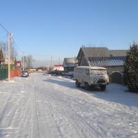 дер.Тельцово,окраина.За домами дорога на дер.Боровскоее.