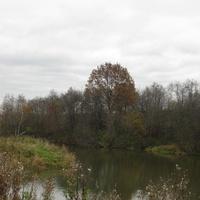 Плотина за деревней