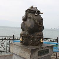 Бердянск. Памятник жабе.