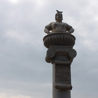 Бердянск. Скульптура в районе Лиски.