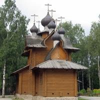 деревянная церковь в Сертолово - во имя преп.Сергия Радонежского другой ракурс