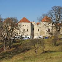 Вид на замок со стороны автодороги