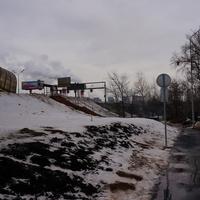 У остановки автобуса на МКАДе