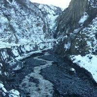 Ругъул кам (буквально - Мутной воды ущель, ручей) зимой