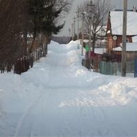 Цветочная улица зимой...