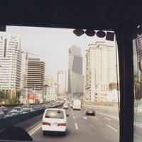 Шанхай из окна автобуса