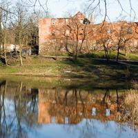 Замок Инстербург замковый пруд