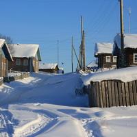 Деревня в снегу