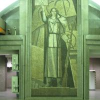 Мозаичное панно перронного зала улицы Дыбенко