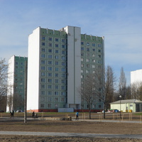 Микрорайон Сельмаш. пр. Космонавтов. Общежития. (со стороны озера)