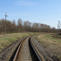 Путь в сторону Хойник, вид с переезда по ул. Комсомольской